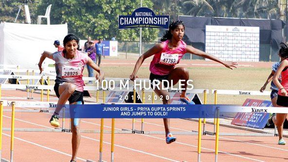 Junior Girls: Priya Gupta surges past the competition to grab Gold!