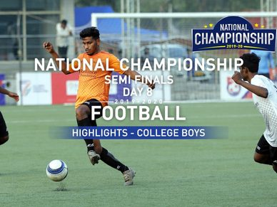 RFYS National Championship 2019-20 | Day 8 Hlts | College Boys Semi Finals | ICC vs Dr.BDSM (2-3)