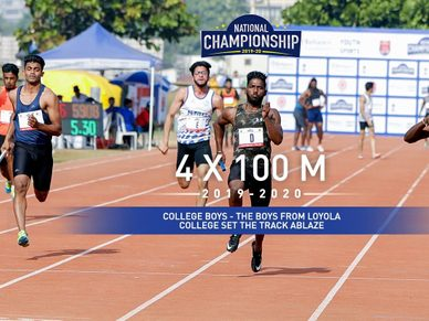 College Boys 4x100M: Loyola College dominate the track to win Gold