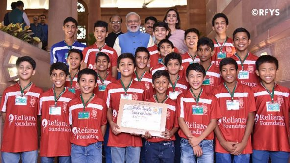 Reliance Foundation Young Champs meet honourable PM Mr. Narendra Modi at RFYS launch