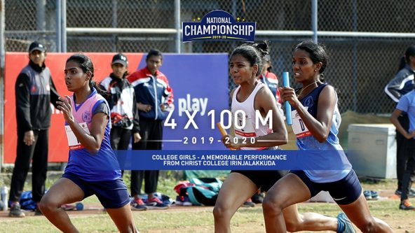 College Girls 4x100M: Christ College Irinjalakkuda win Gold after thrilling final leg