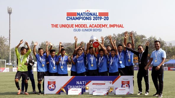 Presenting the Sub-Junior Boys champions from The Unique Model Academy, Imphal