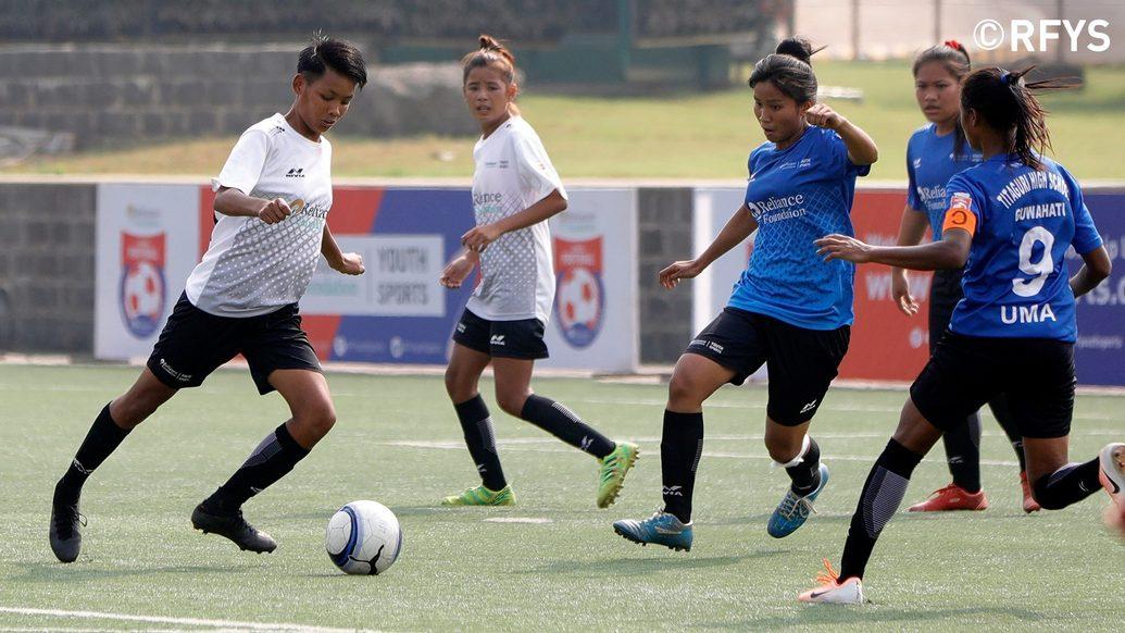 National Finals, School Girls: Nilmani English School, Imphal vs St. Joseph's International School, Hisar
