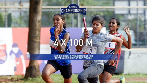 Senior Girls 4x100M: Kongu Vellalar Matriculation HSS set the Golden standard