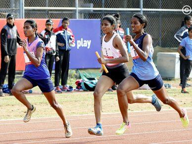 College Girls 4x100M: Christ College Irinjalakkuda win Gold after thrilling final leg