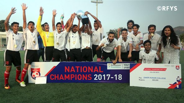 RFYS Championship 2017-18: FINAL College Boys - Baselius College, Kochi  Vs Zakir Hussain College, Delhi