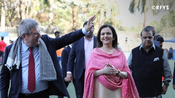 Mrs Nita Ambani with International Olympic Committee President