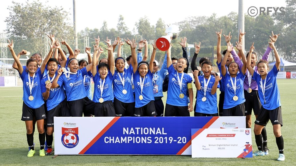 National Finals, School Girls: Nilmani English School, Imphal crowned champions 2nd time in a row